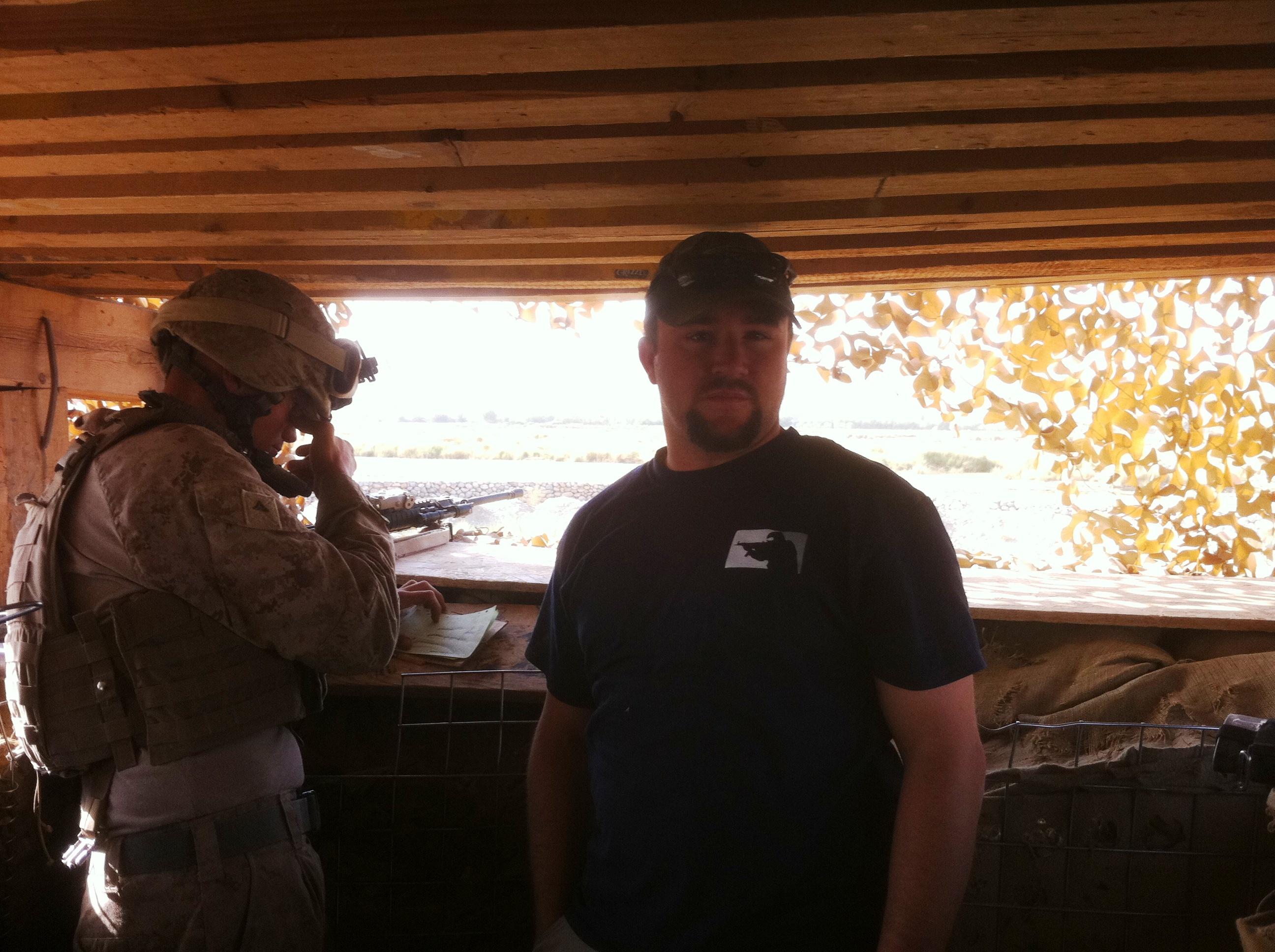 Garrett coaching a sniper